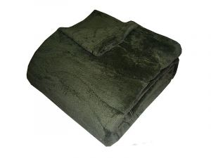 Super soft deka - olivová
