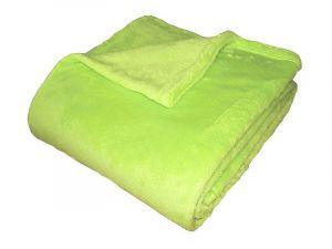 Super soft deka - světlá kiwi