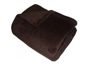 Super soft deka - tmavě hnědá