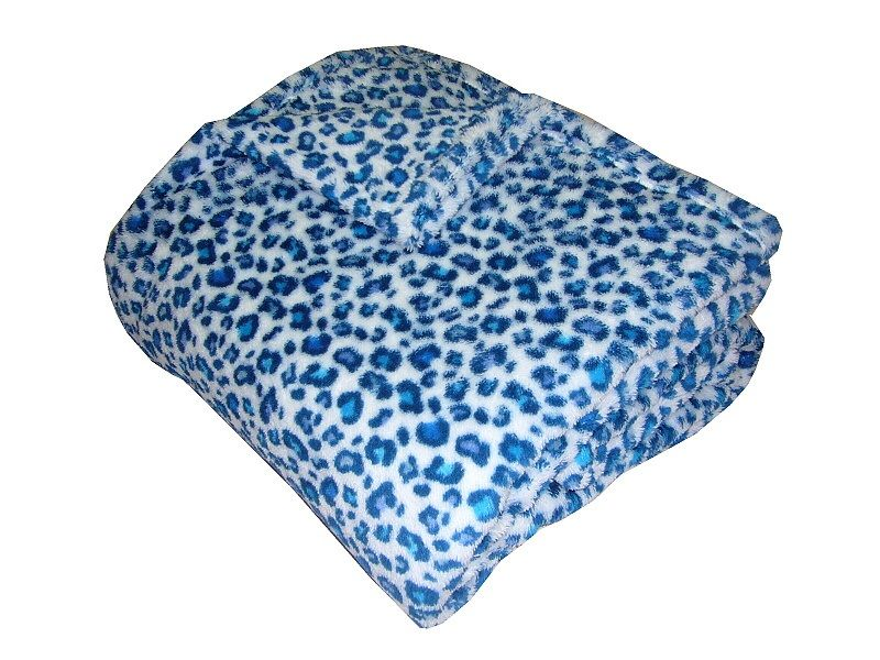 Super soft deka Safari - Gepard modrý