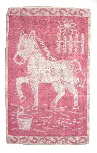 Dětský ručník - Koník růžový