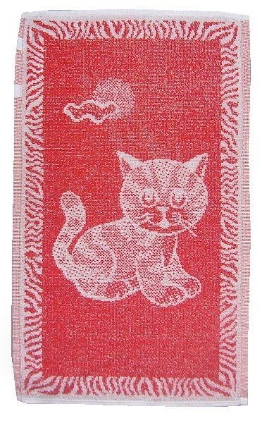 Dětský ručník Kotě červené, rozměr 30x50 cm.