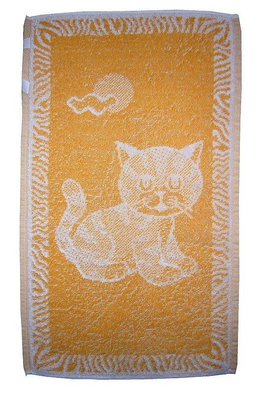 Dětský ručník Kotě okrové, rozměr 30x50 cm.