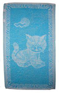 Dětský ručník - Kotě tyrkysové