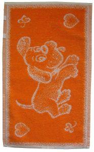 Dětský froté ručník - Pejsek oranžový,