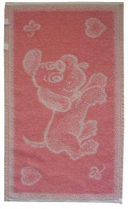 Dětský froté ručník - Pejsek růžový,
