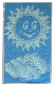 Dětský ručník - Sluníčko modré,