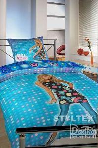 Dětské bavlněné ložní povlečení Hannah Montana modrá
