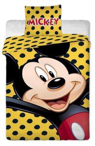 Bavlněné povlečení Mickey yellow