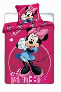 Bavlněné povlečení Minnie dark pink
