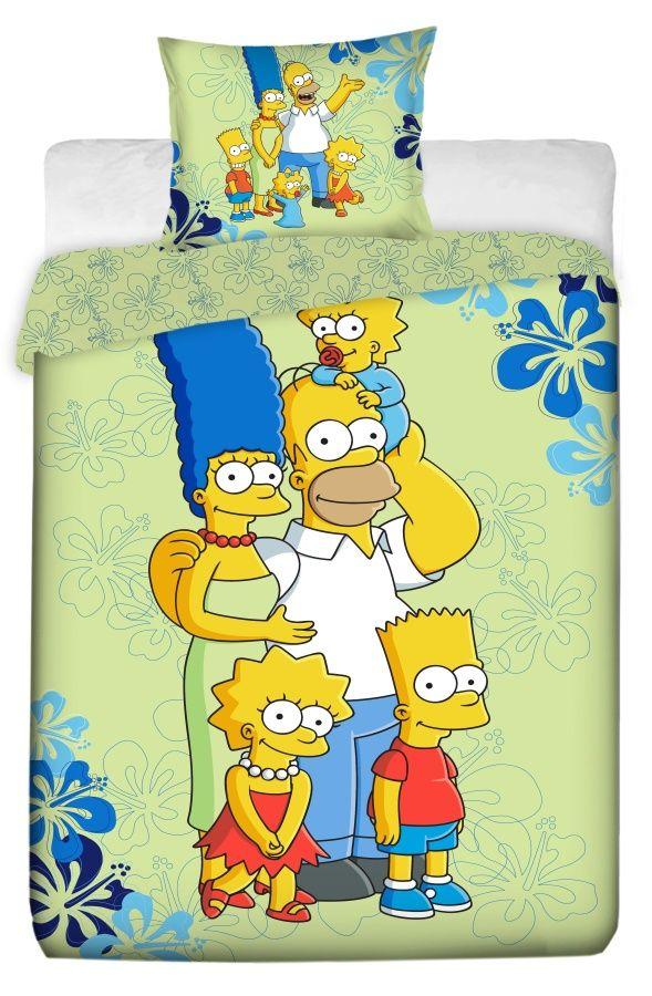 Bavlněné povlečení Simpsons family 2016 1x 140/200, 1x 70/90